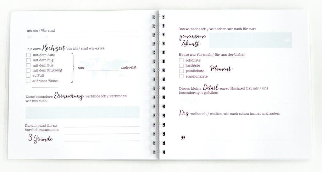 personalisiertes hochzeitsg stebuch mit fragen und stickern flitterbook. Black Bedroom Furniture Sets. Home Design Ideas