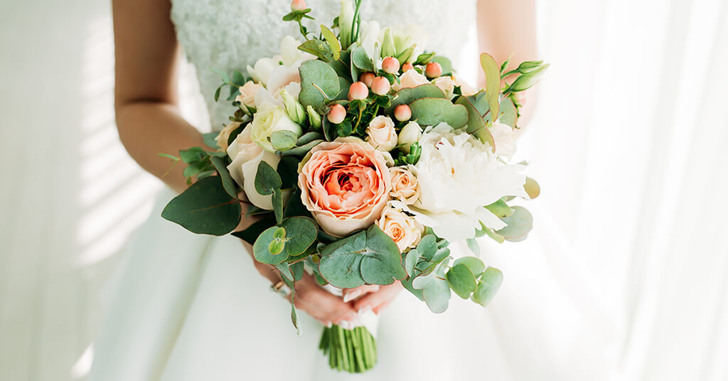 Brautstrauß -Hochzeitsdeko