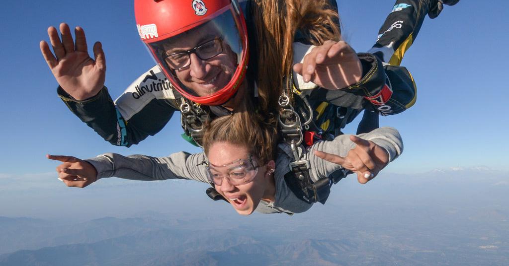 Hochzeit mal anders - Skydiving