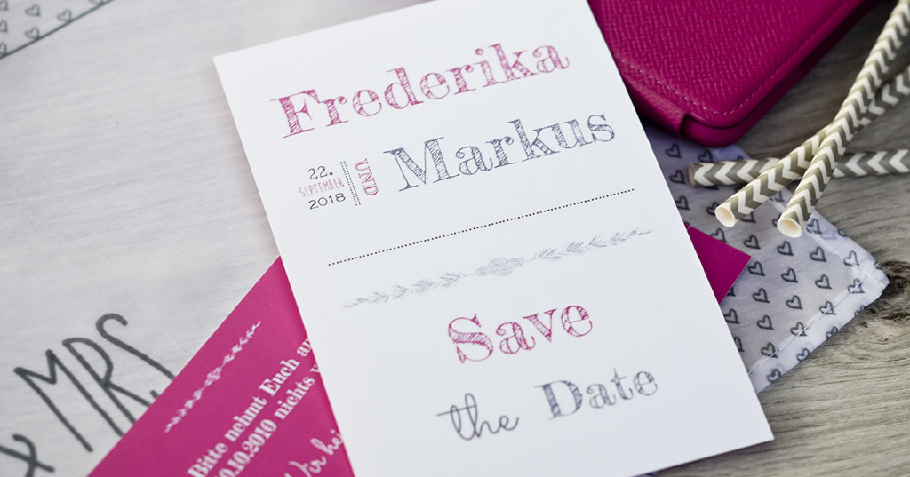 Save the date-Karte Text