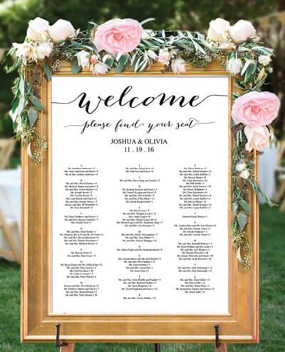 Hochzeit Checkliste Sitzordnung
