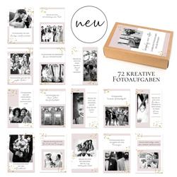 """Kartenset: """"Happily ever after"""" - 72 kreative Fotoaufgaben für die Hochzeit , Fotoideen , Hochzeitsgeschenk , Hochzeitsspiel"""