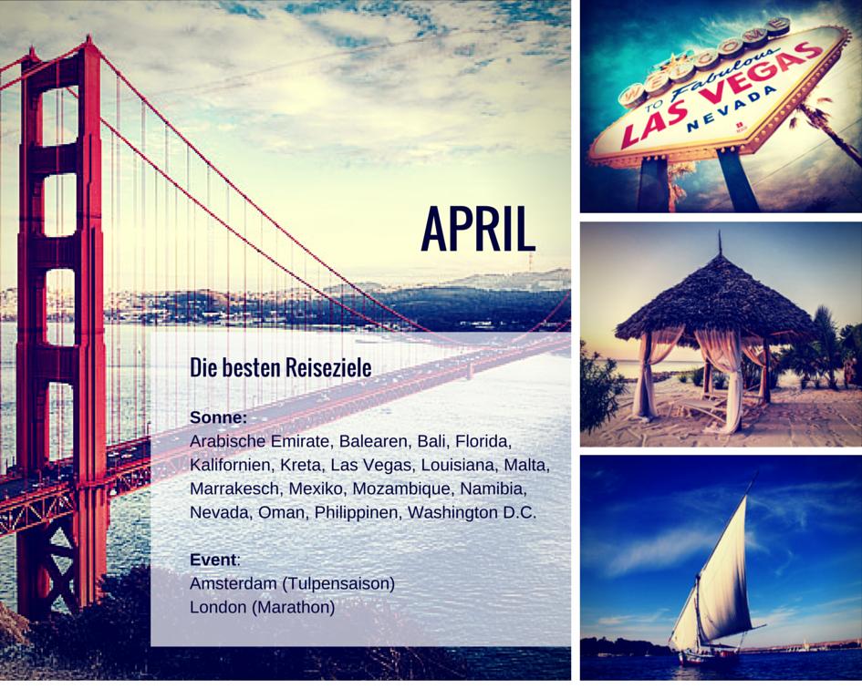 Reiseziele April