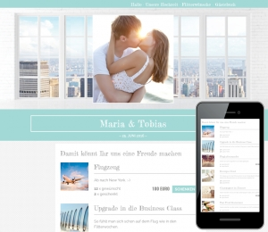 Die perfekte Wunschliste - Beispiel-Hochzeitstisch