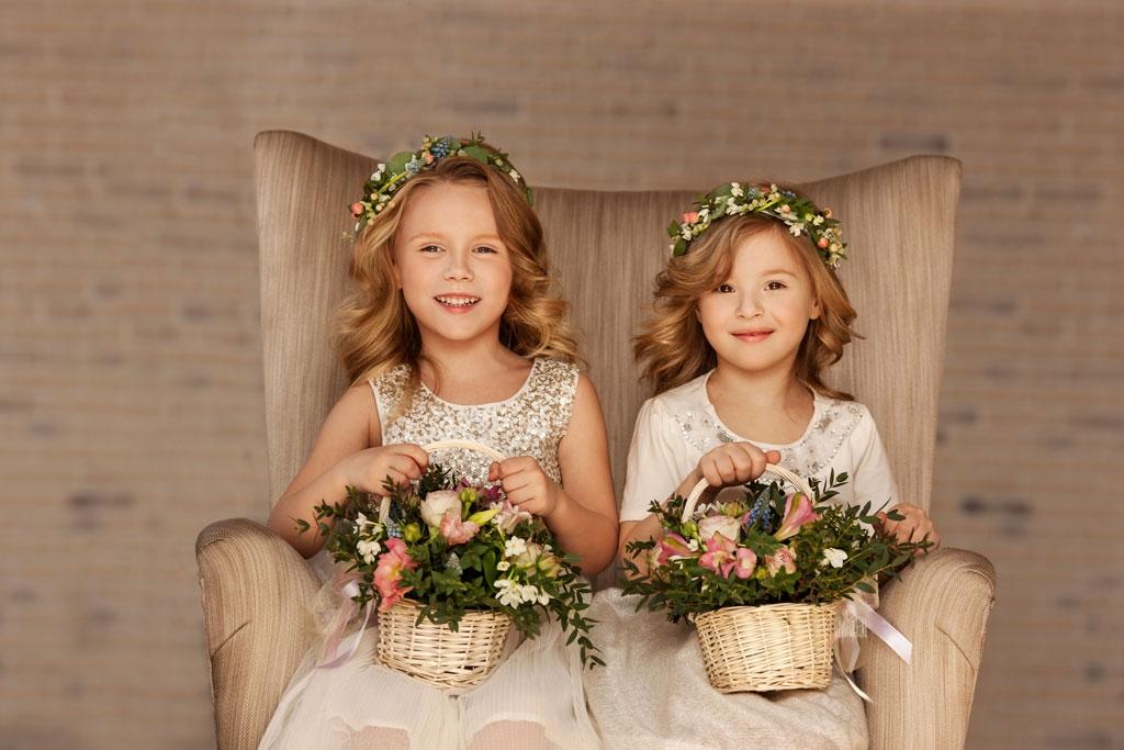 Kinder Hochzeit: Blumenkinder
